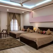 Another beautiful view of the bedroom - double occupancy room at the Safe House Wellness Retreat India