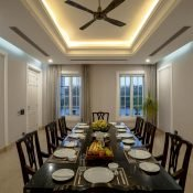 Another beautiful view of the dinning room at the Safe House