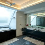 Another view inside bathroom of the double occupancy room