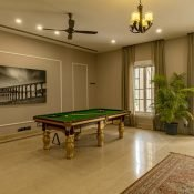 Another view of the pool inside of the Safe House Wellness Retreat India
