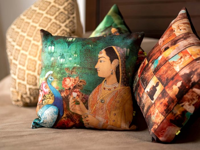 Beautiful cushions at the Safe House