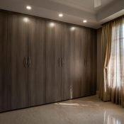 Big closet inside of the Safe House Wellness Retreat India