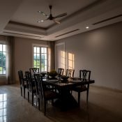 Dinning Room at the Safe House Wellness Retreat India