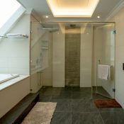 Double occupancy room bathroom at the Safe House