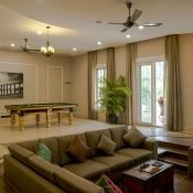 Indoor Lounge at Safe House Wellness Retreat India