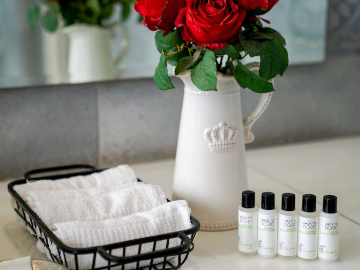 Personal care products at the Safe House Wellness Retreat India